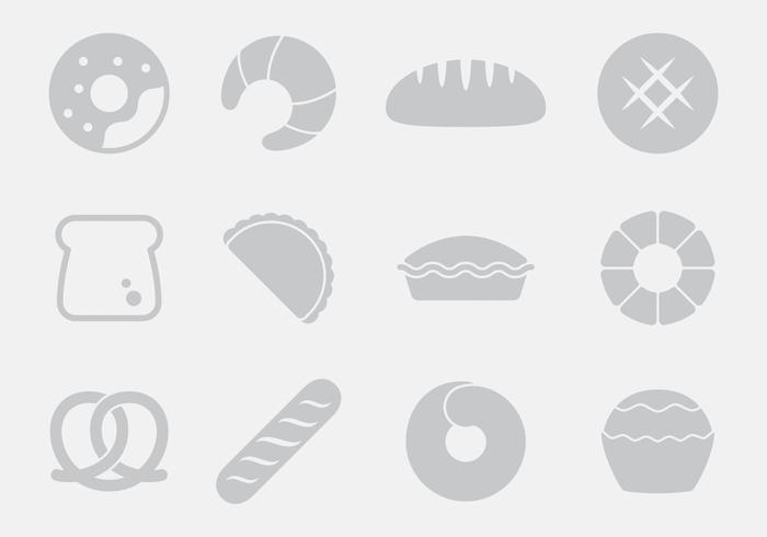 Gray Bread Icons