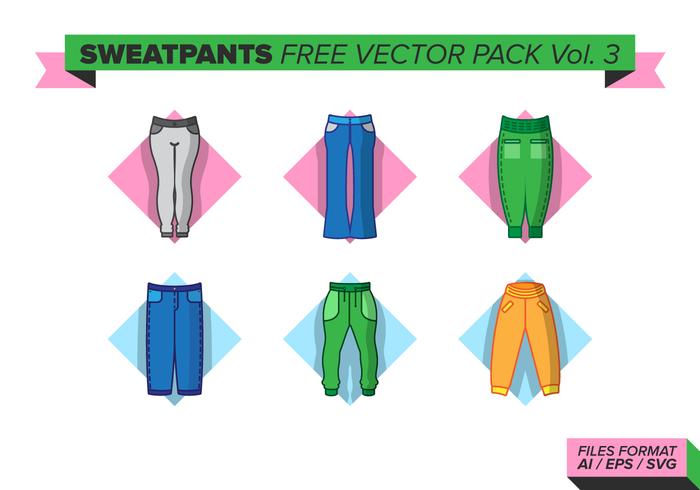 Sweatpants pack vecteur gratuit vol. 3