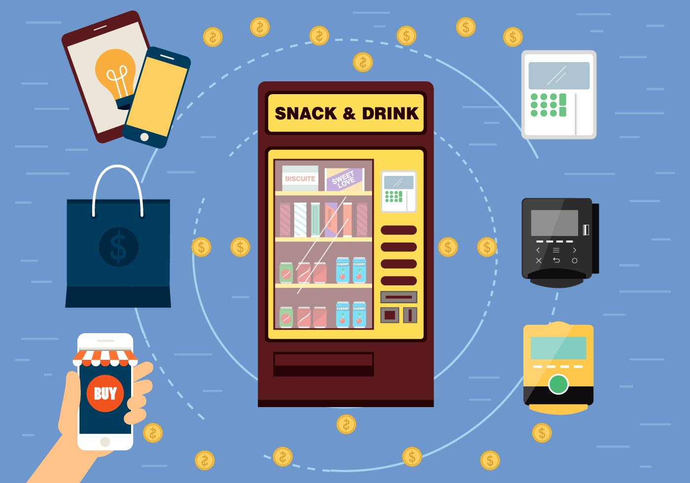 Vending Machine Free Vector Art 2345 Free Downloads