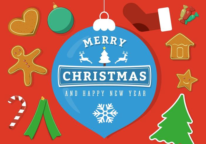Free Vector Merry Christmas Background