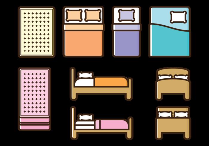 Mattress Vector Icons