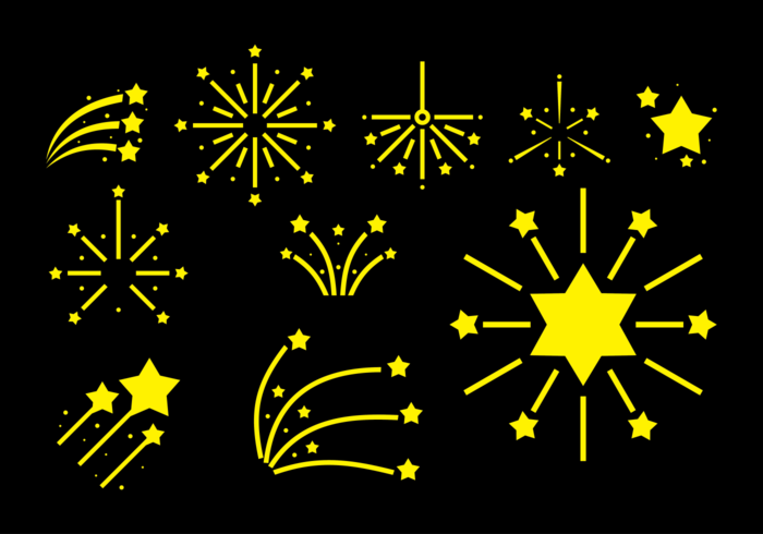 Fire Crackers Vector Icons