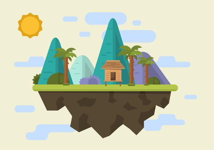 Mountain Shack Vector Illustration