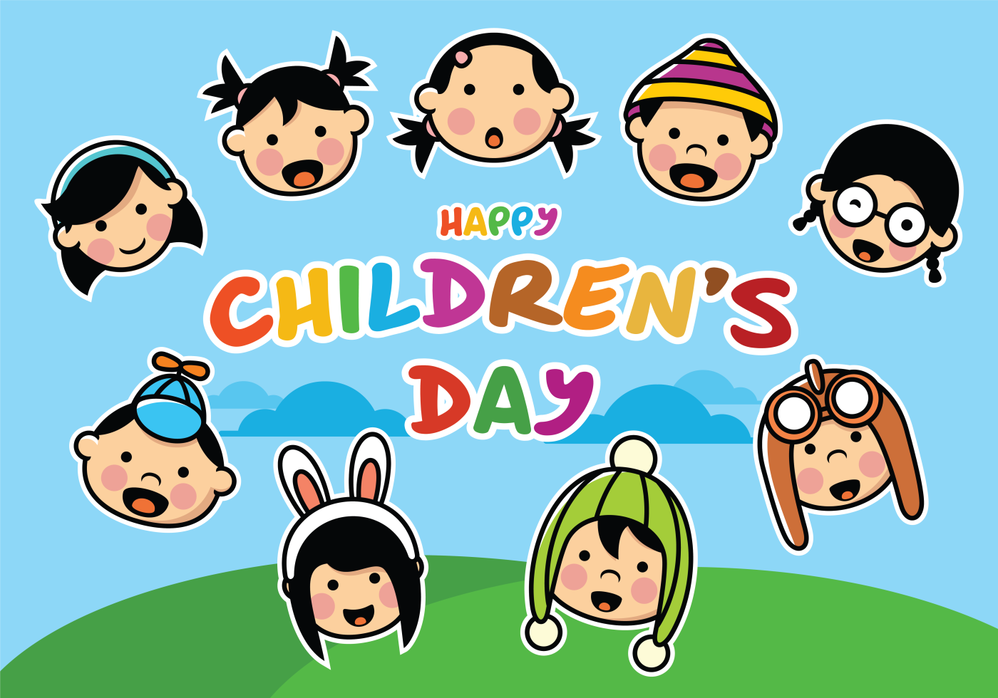 Happy Childrens Day Download Free Vector Art Stock Graphics Images