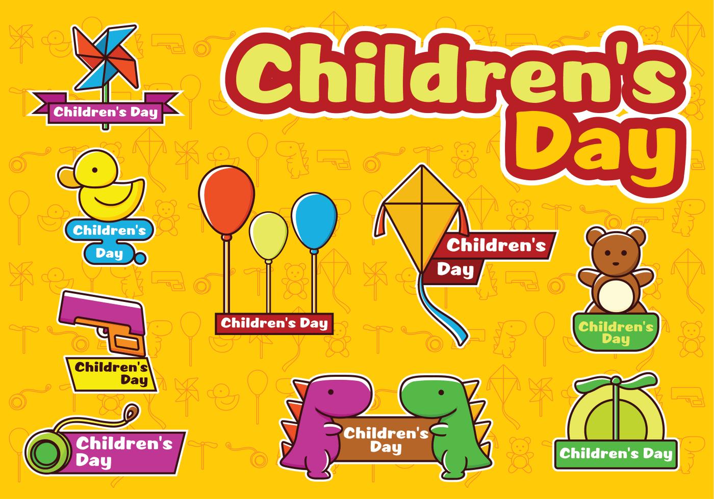 Happy Children S Day Vectors Download Free Vectors