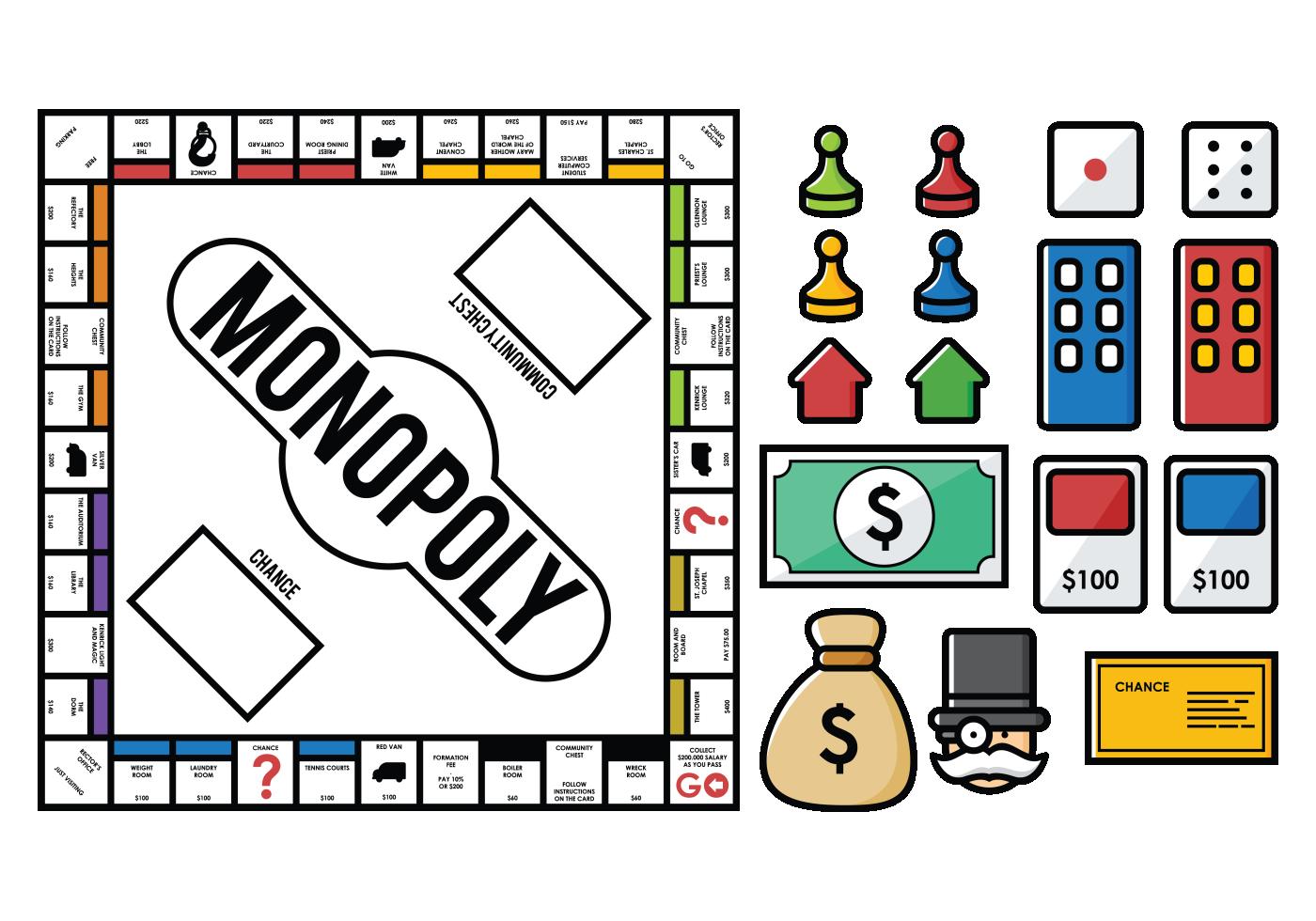 monopoly vectors download free vector art stock
