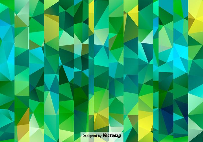 Seamless Polygonal Green Pattern