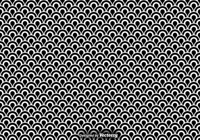 Vector Seamless Pattern Of Fish Scales