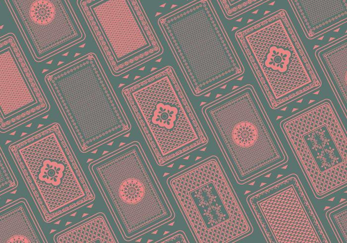 Playing Card Back Pattern Vector