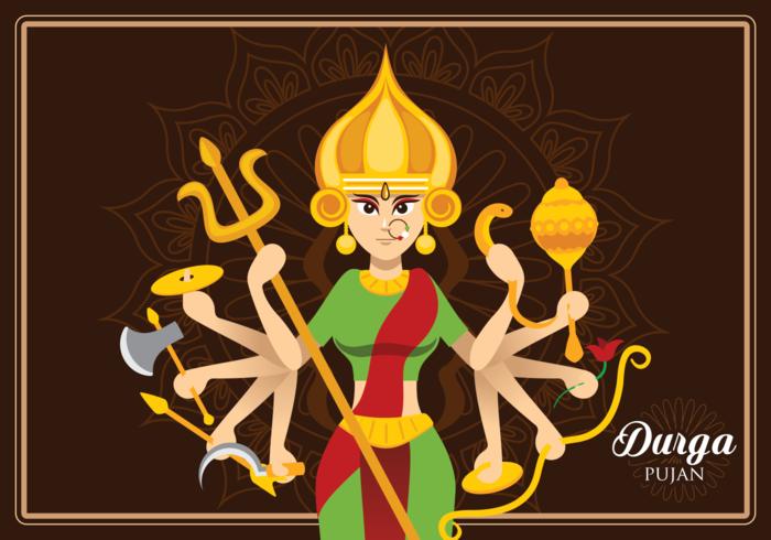 Goddess Durga Illustration