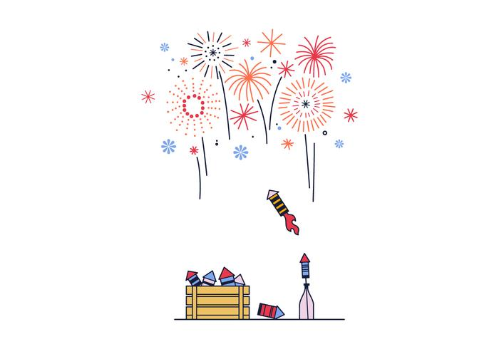 Free Fireworks Vector