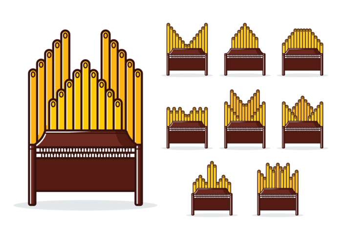 Vettore dell'organo a canne