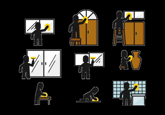Icono de Wipe Stickman vector