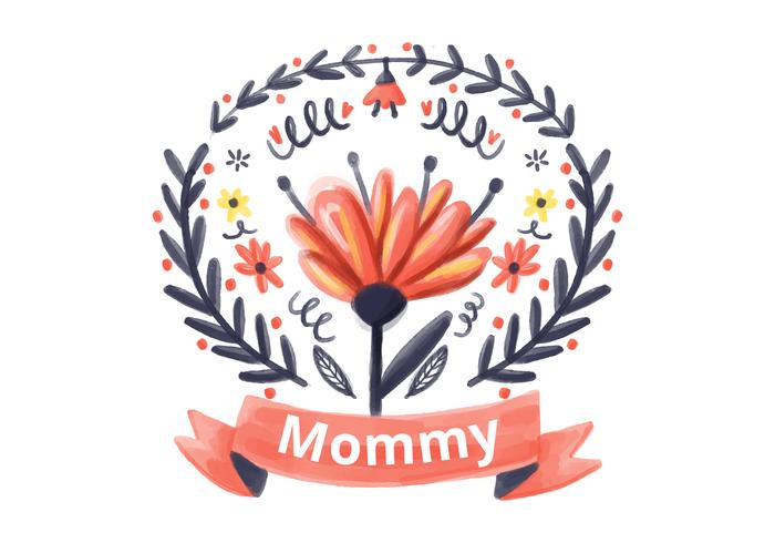 Mommy Watercolor Background