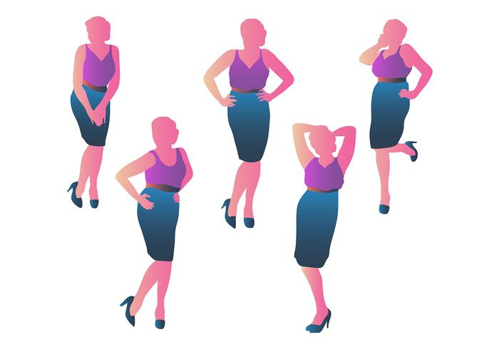 Business Woman Silhouette Vectors
