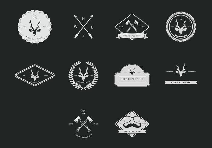 Kudu Hipster Icon Set