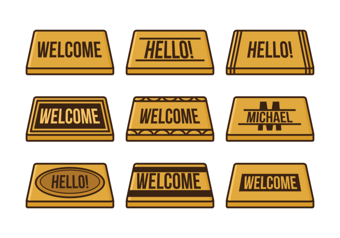Fee Welcome Mat Vector