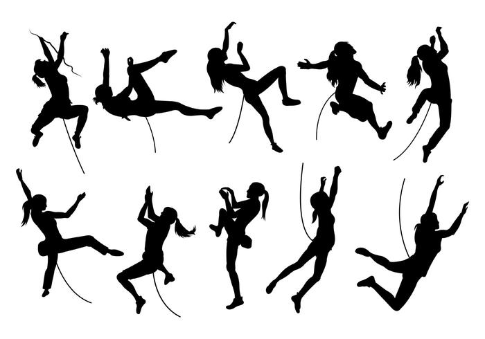 Silhouette Image of Wall Climbing