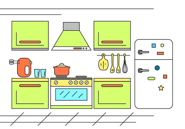Illusion de cuisine gratuite vecteur