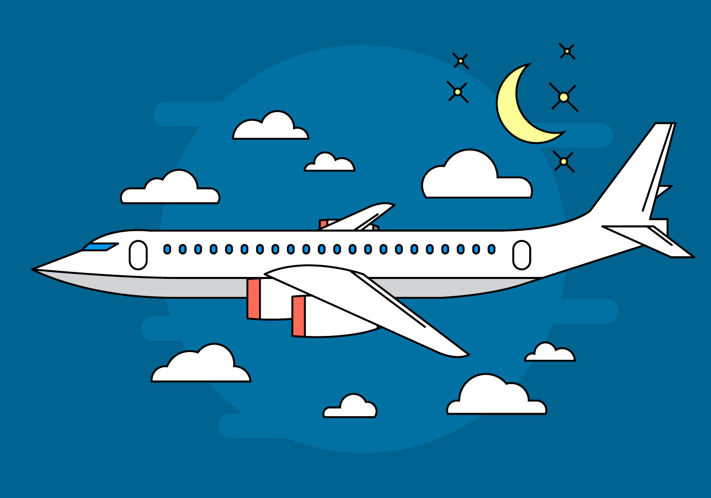 Airplane Vector Illustration Download Free Vector Art