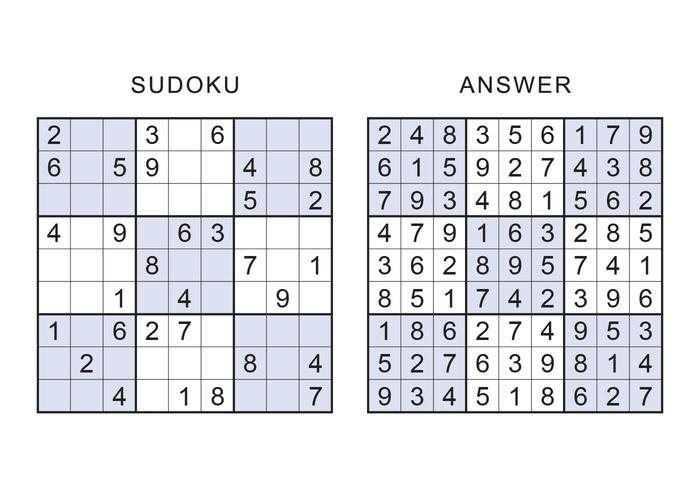 Sudoku Vektor Spiele