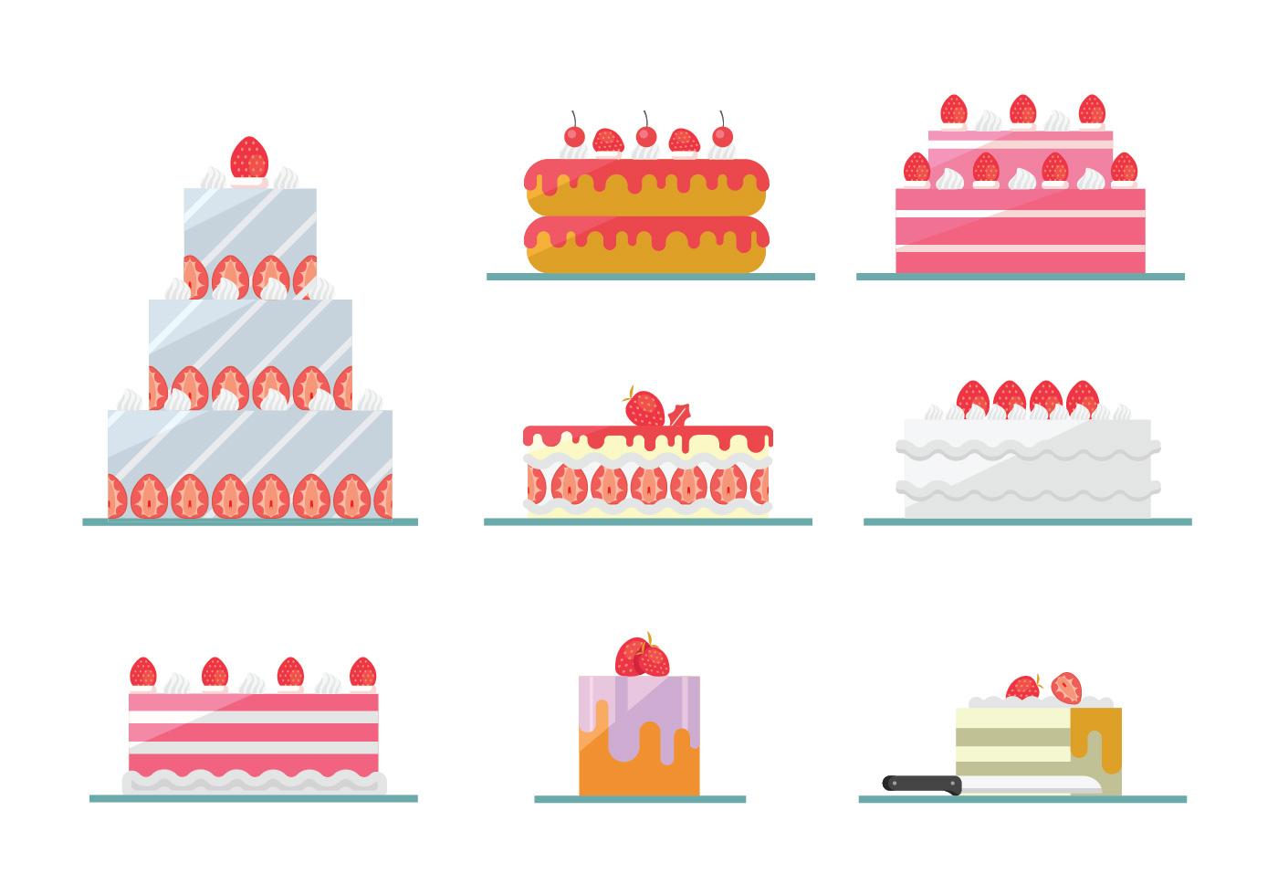 Strawberry Cake Vectors Download Free Vector Art Stock