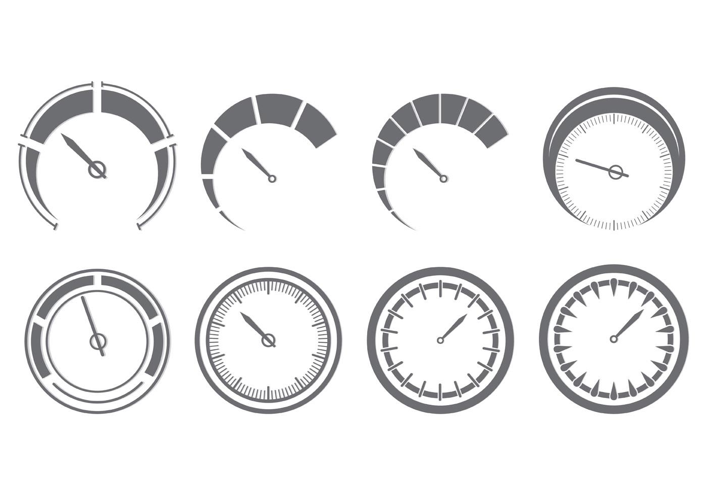 set of tachometer icons