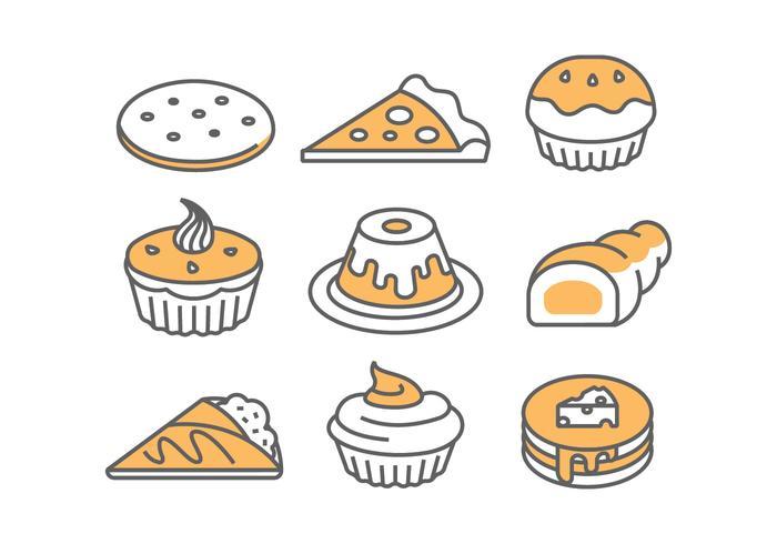 Icônes de boulangerie / gâteau