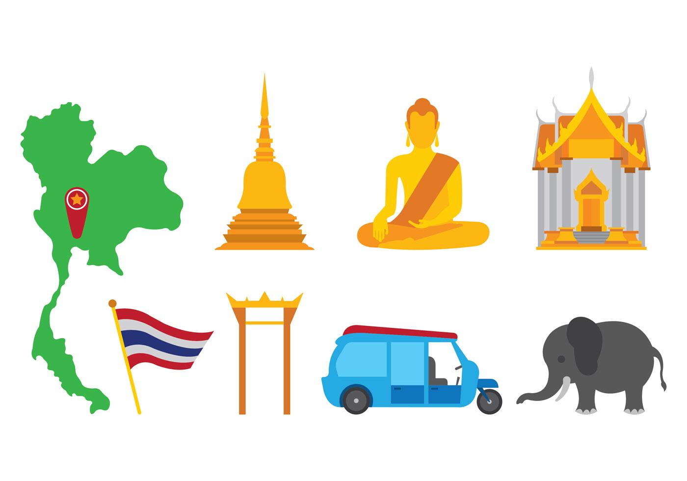 bangkok vector icons download free vector art stock