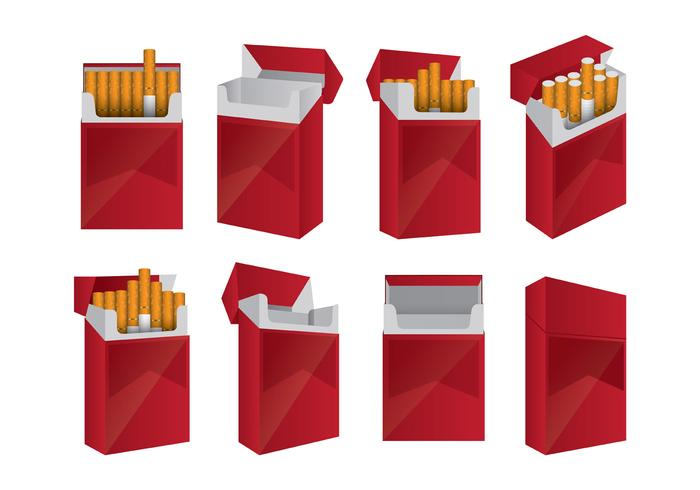 Ensemble de paquets de cigarettes
