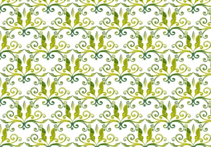 Olive Green Vector Aquarell Royal Hintergrund