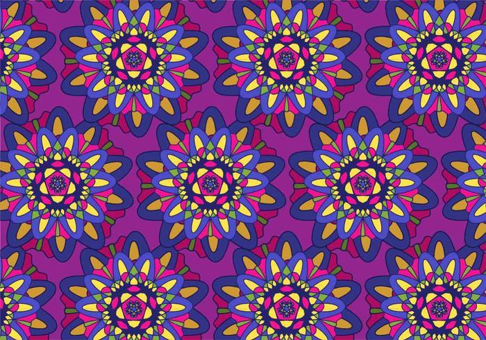 Free Vector Colorful Mandala Pattern