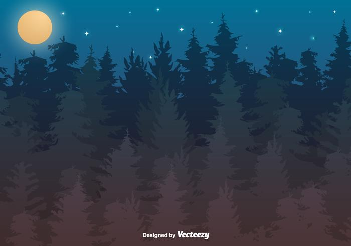 Vektor skogs illustration