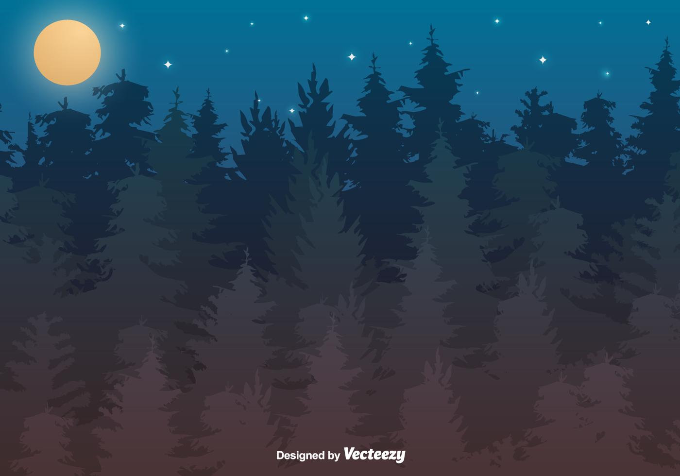 Buy Static Caravan >> Vector Forest Illustration - Download Free Vector Art, Stock Graphics & Images