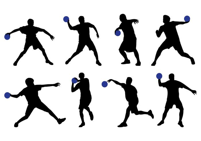 Silhouette of Dodge Ball Player