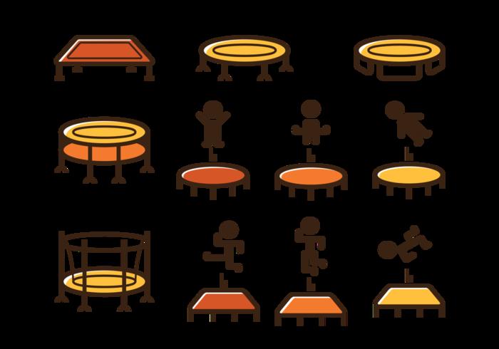 Trampolin ikon vektor