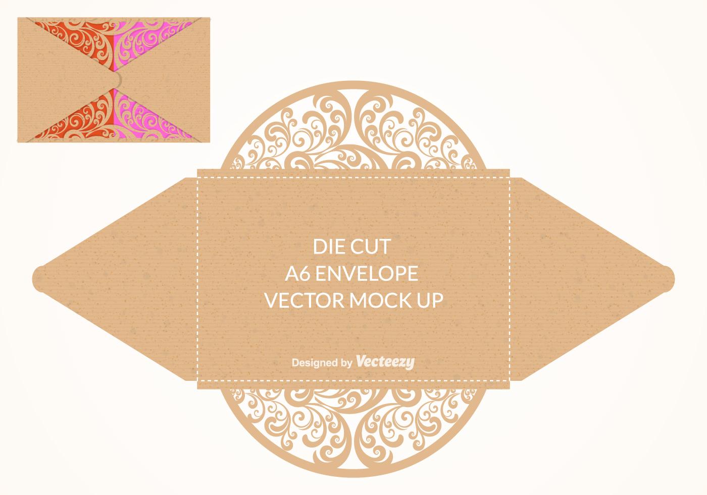 Vector Die Cut Envelope Mock Up Download Free Vector Art