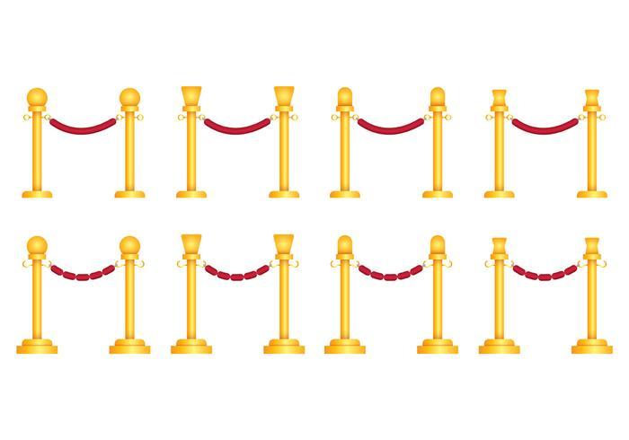 Vecteurs de corde de velours