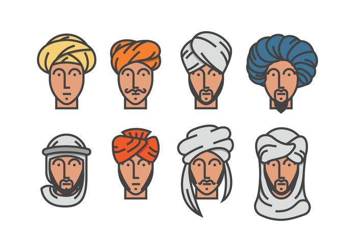 Mannen in Turbanvectoren