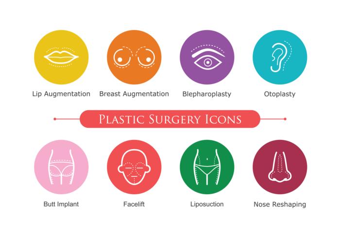 Icônes de chirurgie plastique