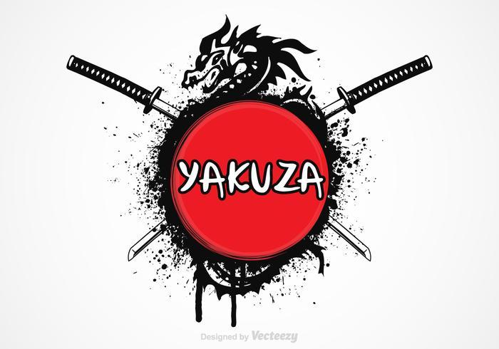 Conception de vecteur gratuit Yakuza