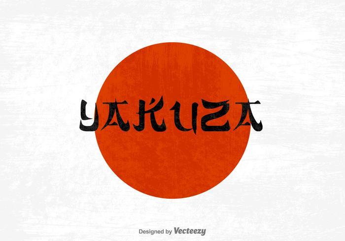 Vecteur de lettrage yakuza gratuit