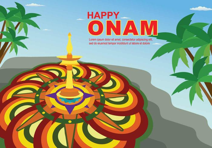 Free Onam Illustration