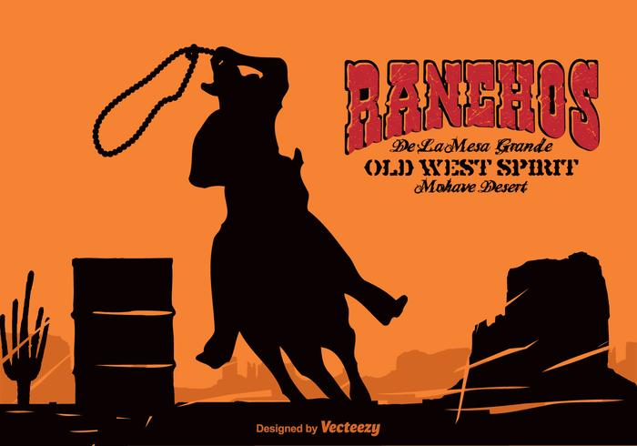 Vector Western Background