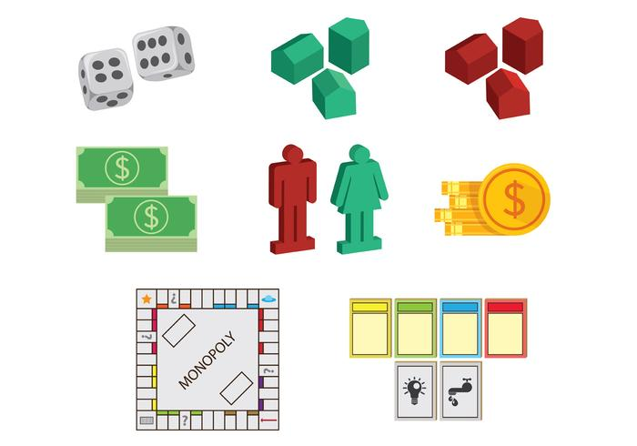 set of monopoly icons download free vector art stock graphics