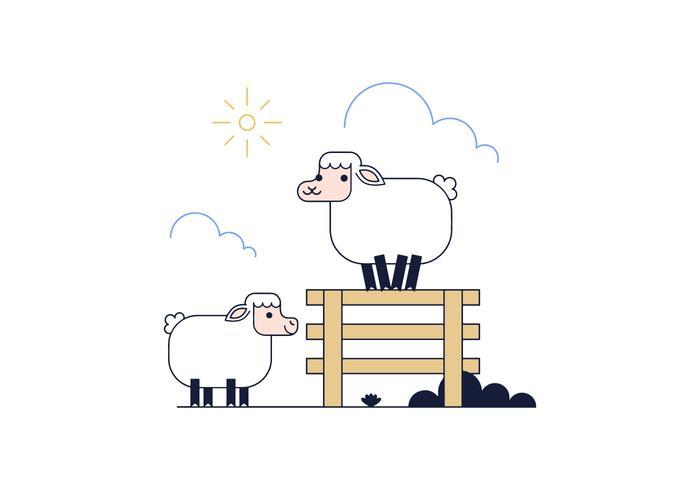 Free Sheep Vector