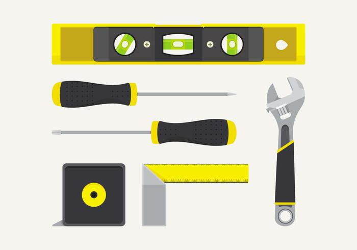 Vector Level Construction Tools Set