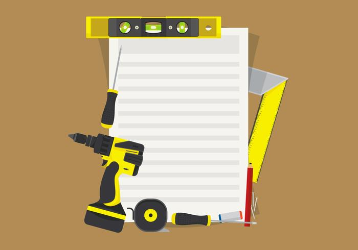 Level Construction Tools Set Illustration