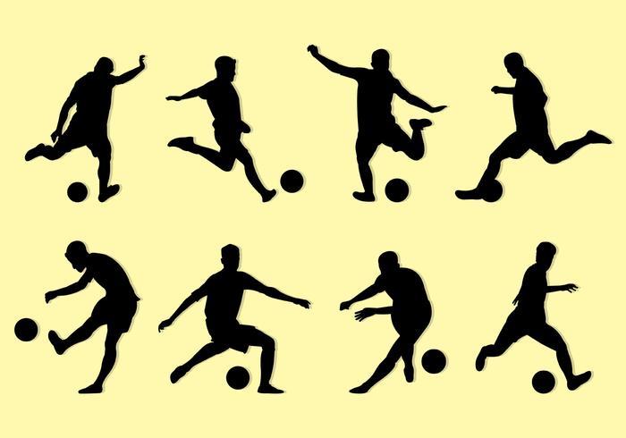 Silhouette der Kickball Spieler
