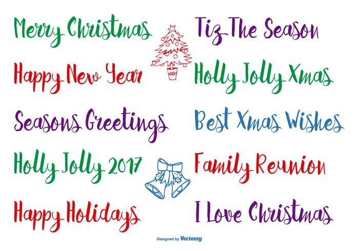 Hand Drawn Christmas Lettering vector